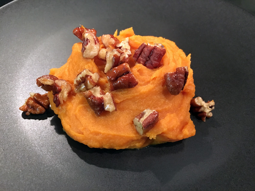 Whipped Sweet Potato with Maple Roasted Pecans