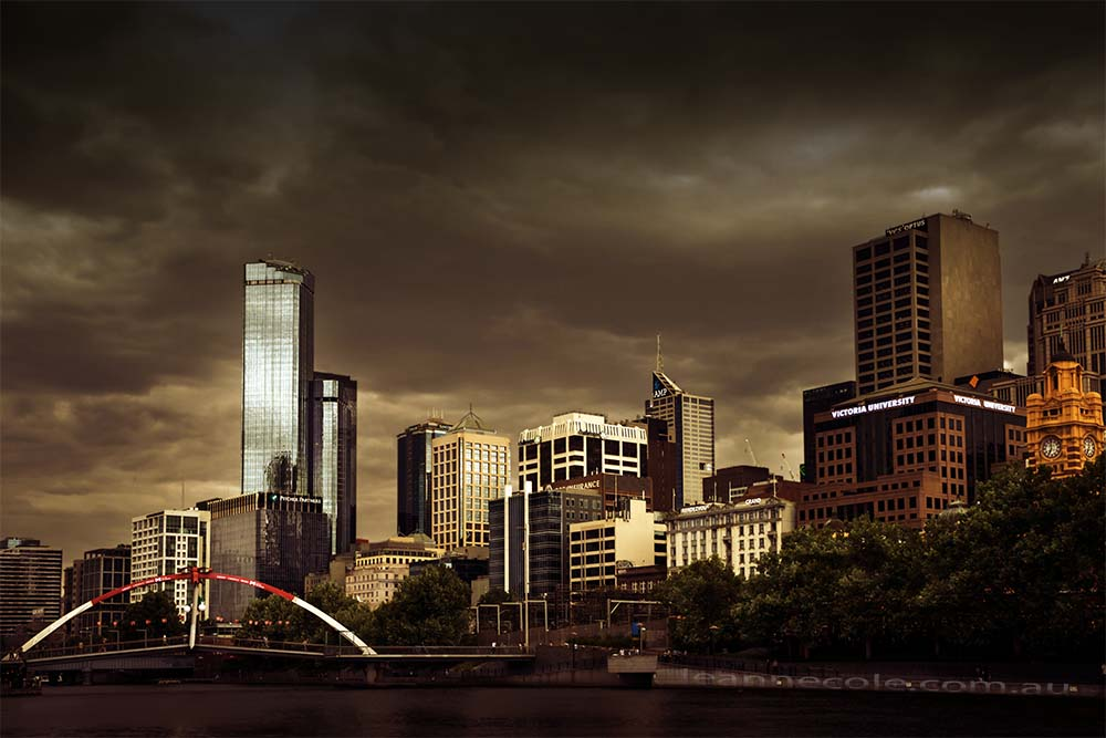 city-storm-bridge-building-clouds-melbourne