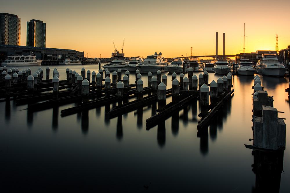 Dockands at Sunset