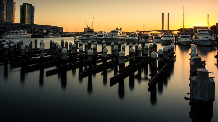 Dockands at Sunset