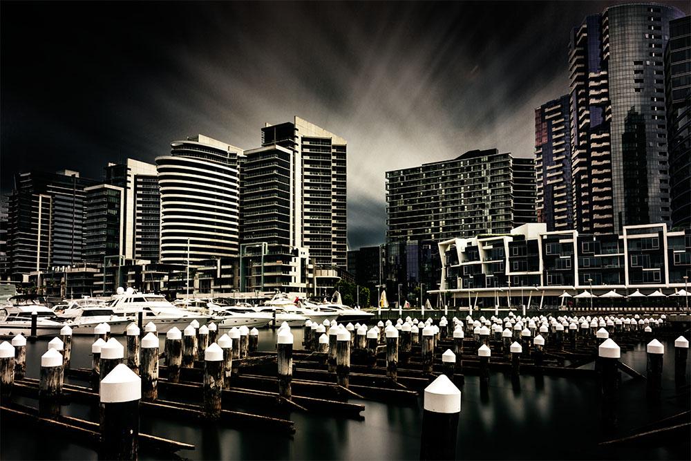 long-exposure-docklands-melbourne-city