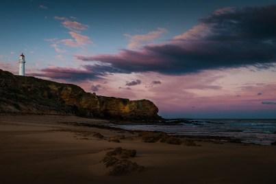 aireysinlet-lighthouse-sunset-water-cliffs