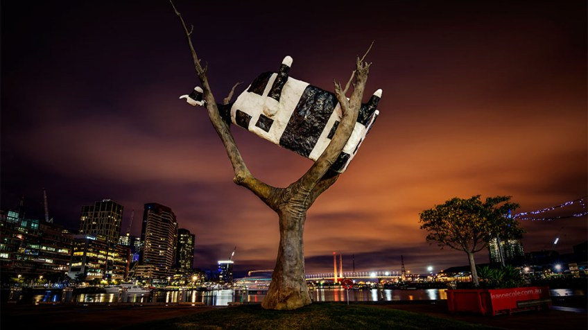cow-tree-docklands-night-art
