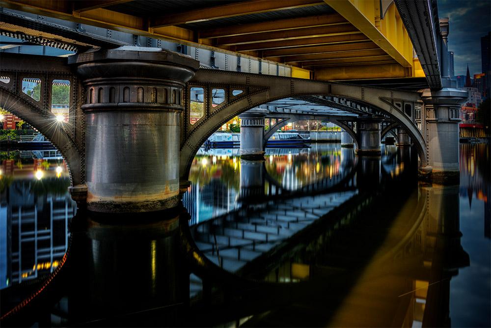 sandridge-bridge-melbourne-early-morning
