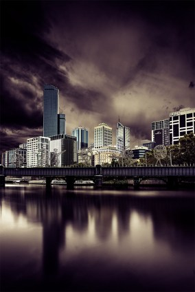 cityscape-melbourne-overcast-long-exposure