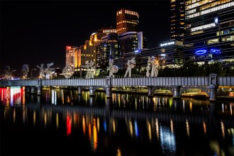 melbourne-southbank-sandridge-bridge-night
