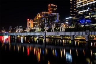 melbourne-southbank-sandridge-bridge-night