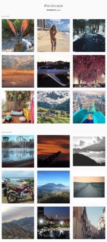 The hashtag for landscape images, one of the most popular ones.