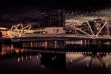 seafarers-bridge-sunset-melbourne-reflections