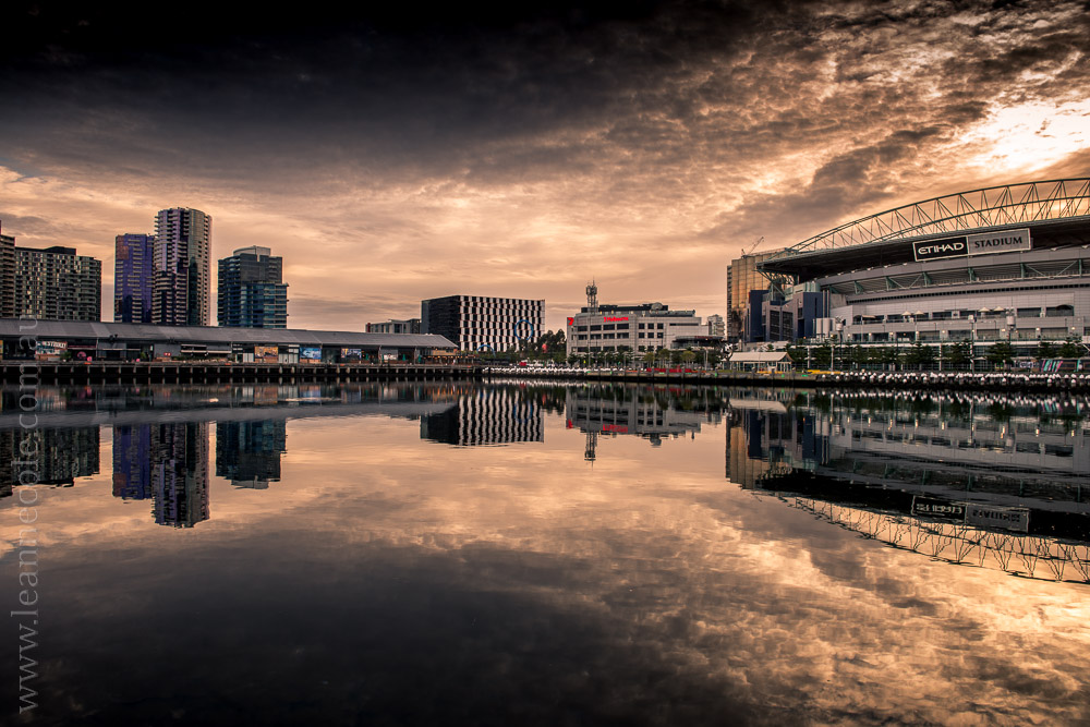 docklands-morning-reflections-melbourne-clouds-3747