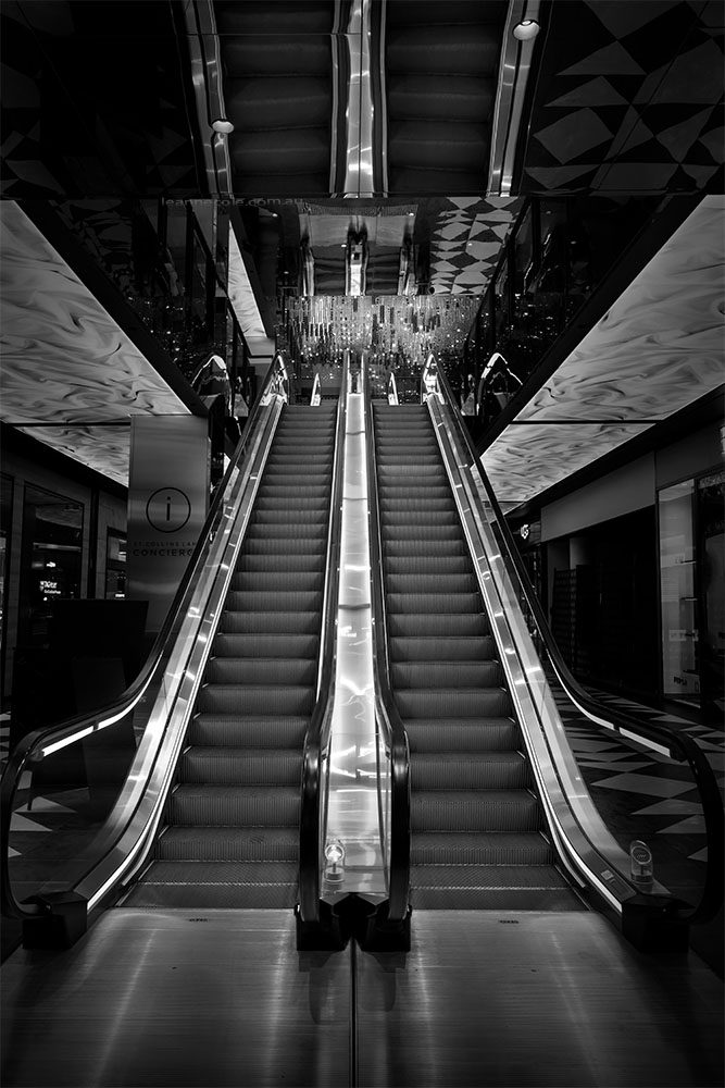 australia-collins-street-monochrome-escalators