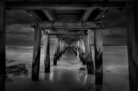 point-lonsdale-pier-under-monochrome
