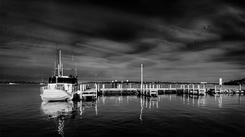 paynesville-marina-fujifilm-boats-monochrome