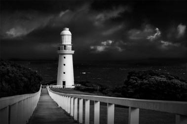 cape-otway-lighthouse-victoria-monochrome