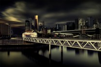 photo challenge 1 - Bridge docklands-long-exposure-bridge-melbourne