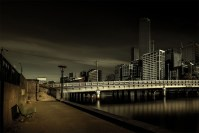 photo challenge 1 - Bridge queens-street-bridge-park-bench-melbourne