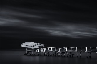 sullivans-bay-sorrento-longexposure-monochrome