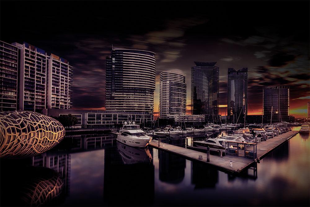 docklands-webbbridge-longexposure-sunset-melbourne-2
