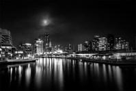 cityscape-docklands-melbourne-night-monochrome