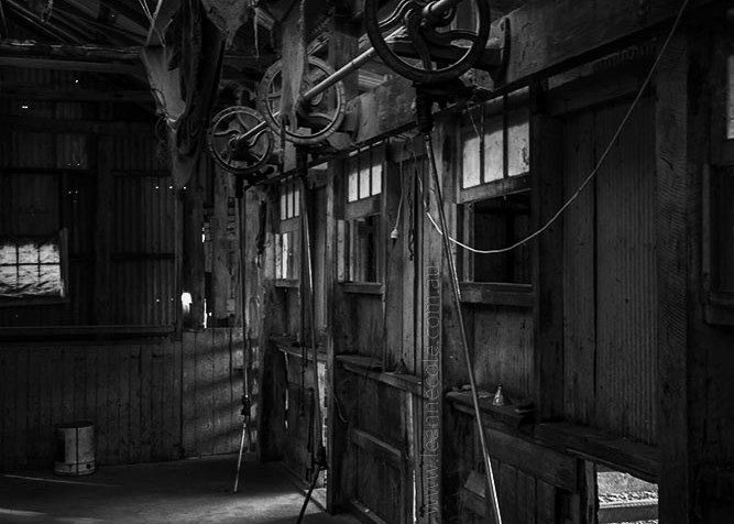 Monochrome Wednesday - An old shearing Shed