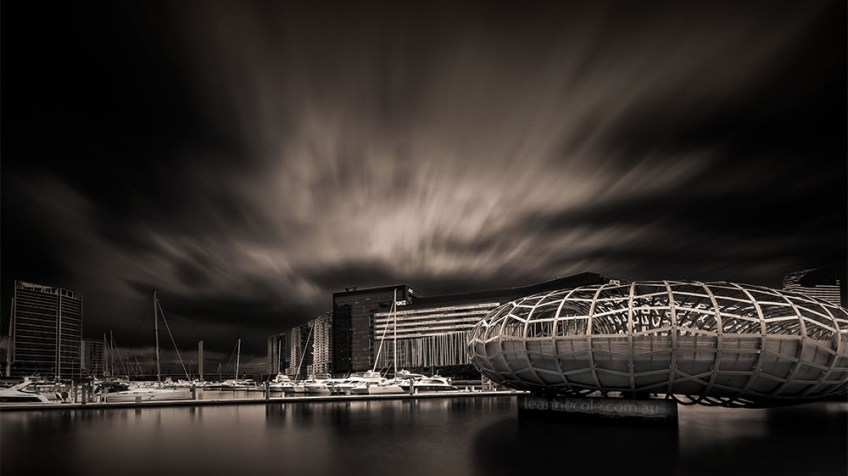 Monochrome Wednesday - Morning at Docklands