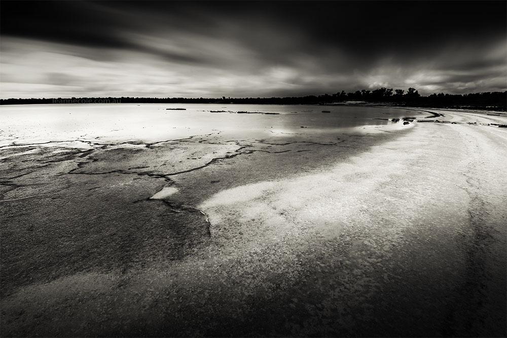 Monochrome Wednesday - a salt lake