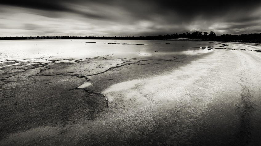 Monochrome Wednesday - a salt lake