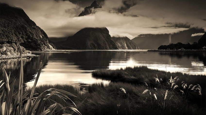 Monochrome Madness - Milford Sound