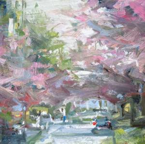 Cherry Blossom painting by Leanne M Christie