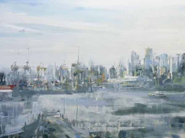 Cityscape painted by Leanne M Christie