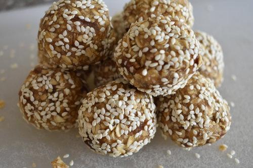 maple tahini snack balls