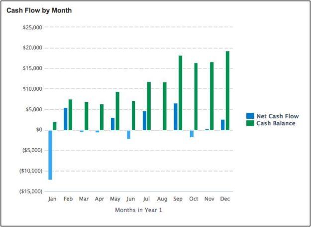 LivePlan Cash Flow Chart