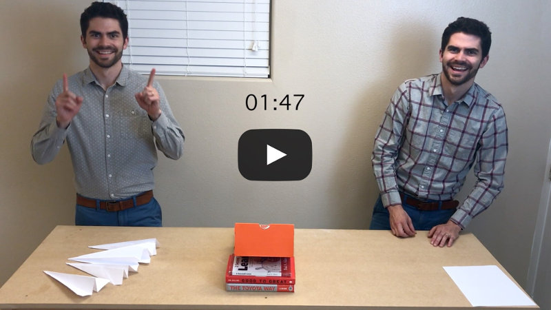 Video: One Piece Flow vs  Mass Production Paper Airplane