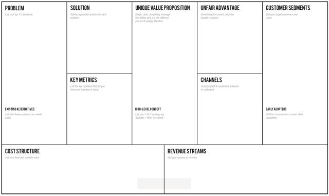 lean startup plan