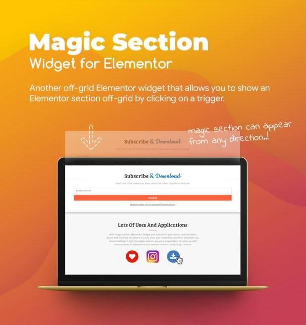 3 magic section widget