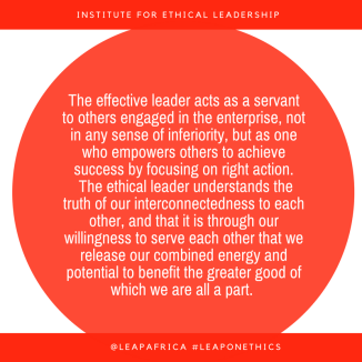 the-effective-leader-acts-as-a-servant-to-others-engaged-in-the-enterprise-not-in-any-sense-of-inferiority-but-as-one-who-empowers-others-to-achieve-success-by-focusing-on-right-action-the-ethical