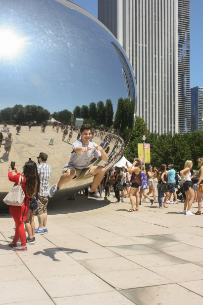 Ryan at Cloud Gate in Chicago