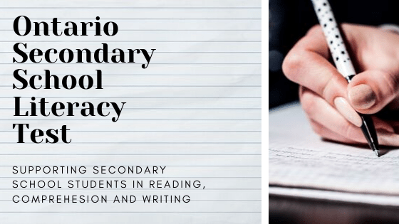 Our tutors can help secondary school students prepare for the Ontario Secondary School Literacy Test by improving reading comprehension, reading, and writing.