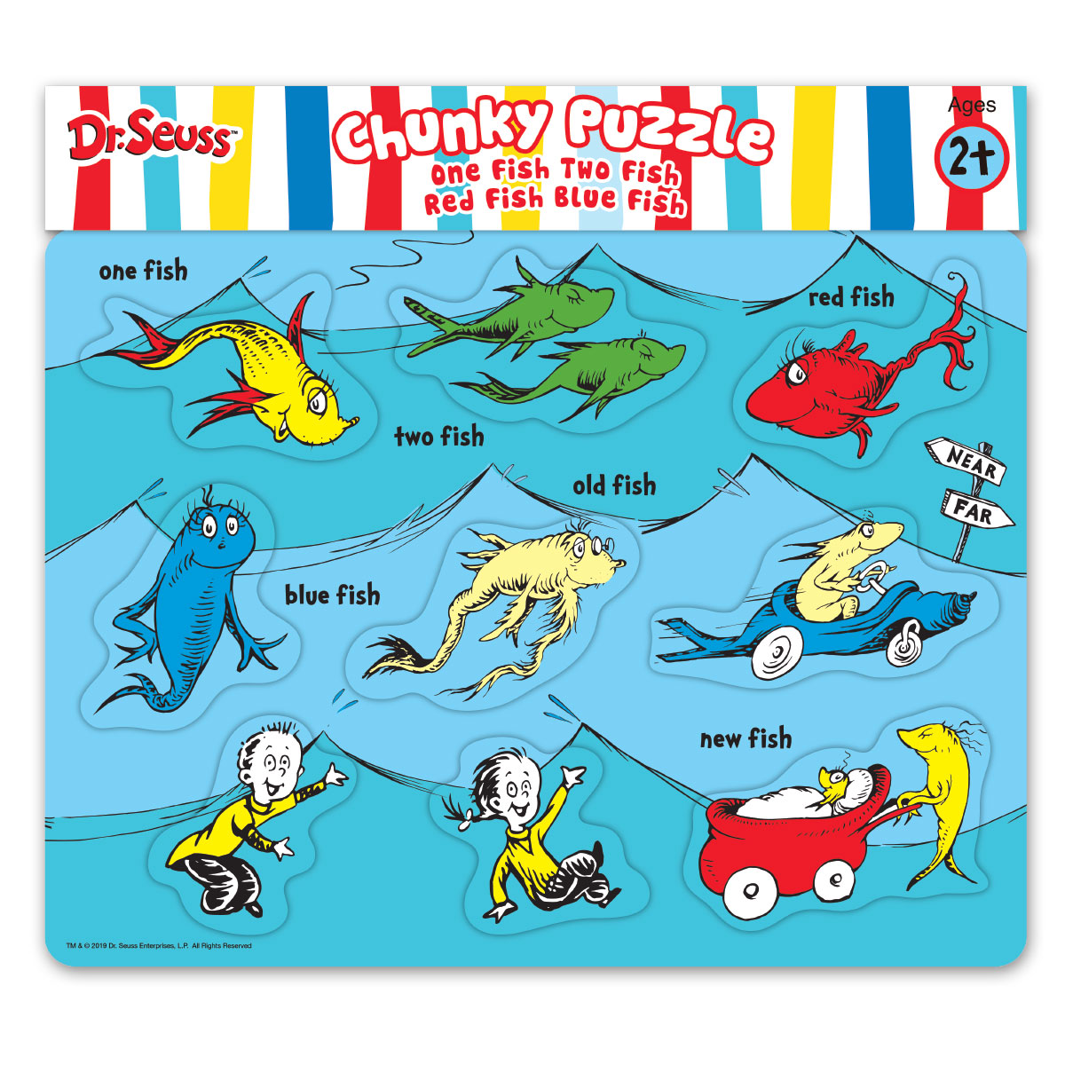 Dr Seuss One Fish Two Fish Red Fish Blue Fish Chunky