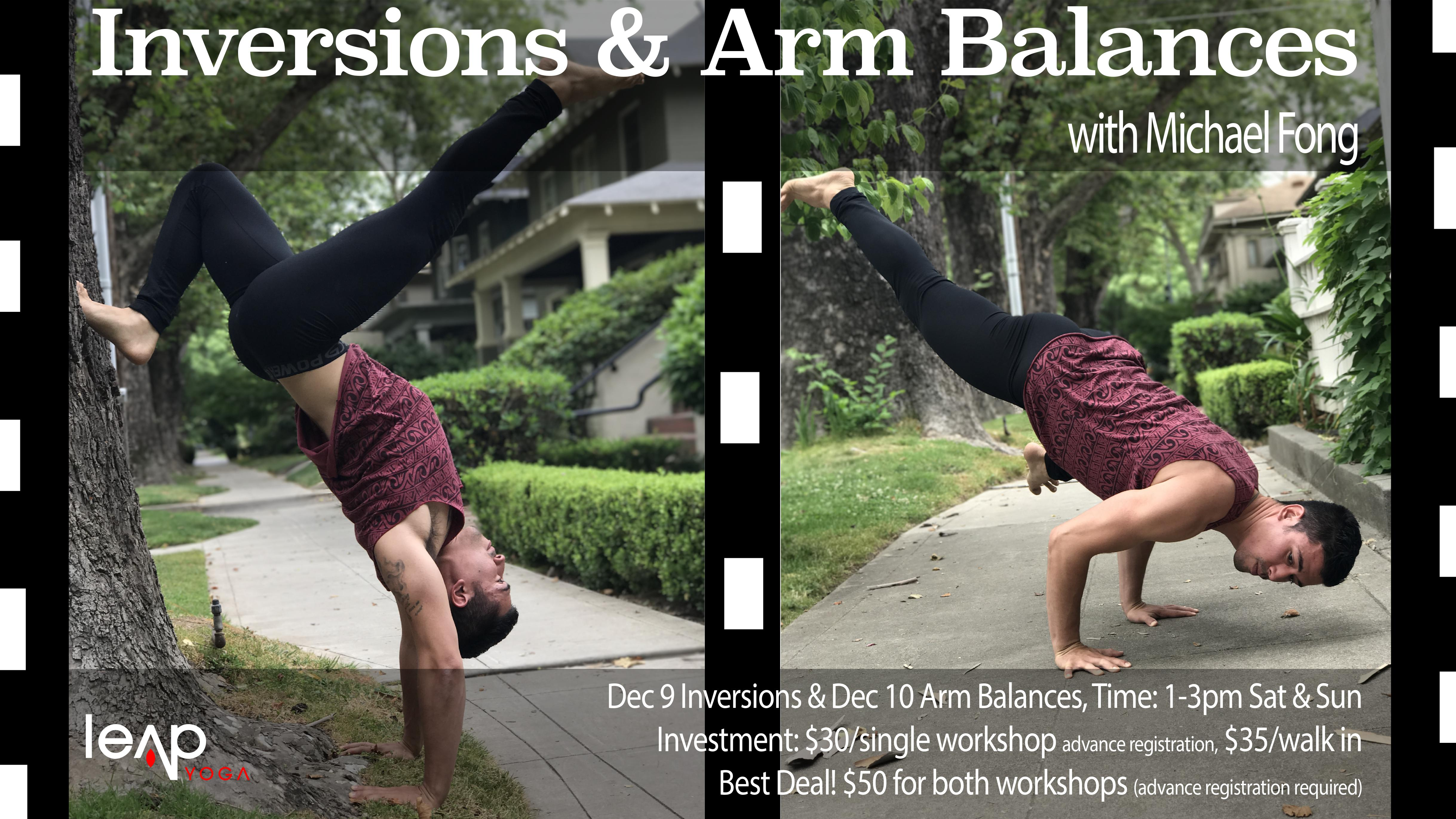 Inversions Amp Arm Balances With Michael Fong