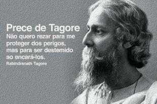 imagem do busto de tagore em ilustração prece de Tagore