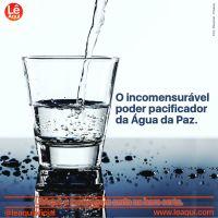 O incomensurável poder pacificador da Água da Paz