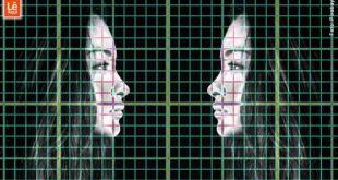 imagem de uma mulher espelhado sobre marcações milimetradas expressando simbolicamente o autoconhecimento