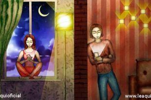 ilustração de dois namorados conversando por telefone celular relacionamentos pandemia