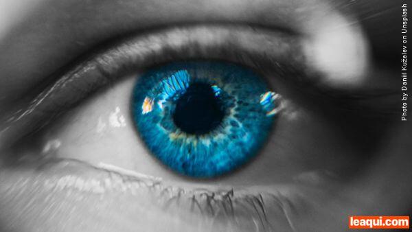 olho azul azul do olhar