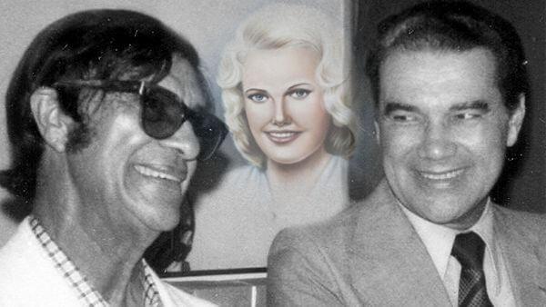 fotografia de Chico Xavier e Divaldo franco e ilustração e irmã Sheilla entre eles entidade operou espiritualmente Divaldo