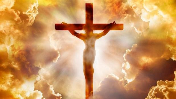 ilustração de Jesus na cruz semana santa