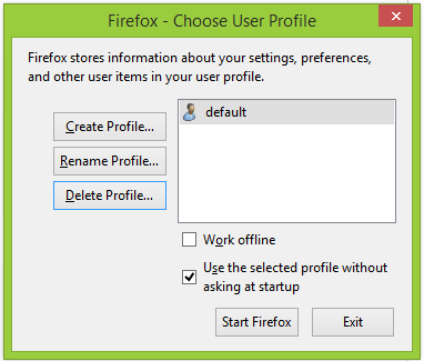 Default Firefox Profile in Selenium