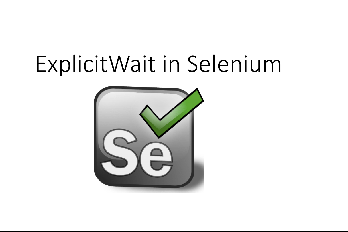 Explicit wait in selenium webdriver