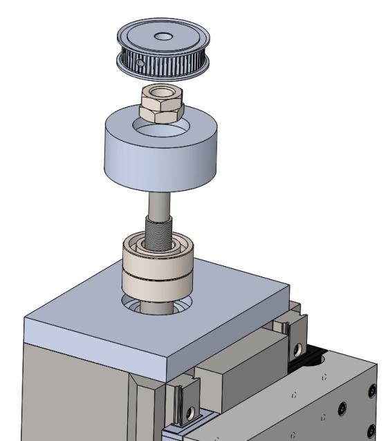 Exploded View of Z Axis Bearing Components